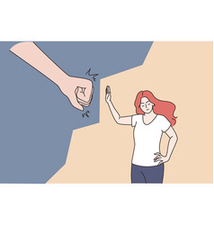 female abuse and harassment concept vector image