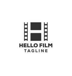 Film strip simple conceptual logo vector