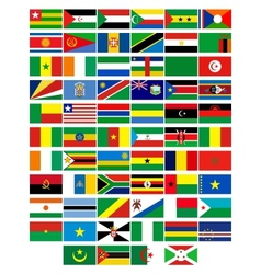 Flags of the countries of Africa vector image