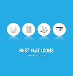 Flat icon garment set of underclothes brasserie vector