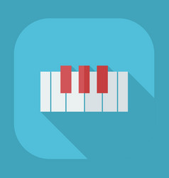 Flat modern design with shadow icons piano vector