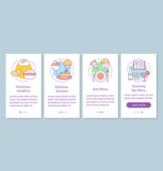 food service onboarding mobile app page screen vector image