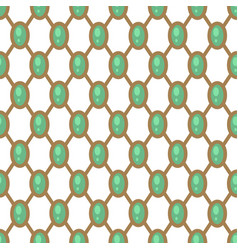 gems geometric pattern with net green and gold vector image