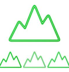 Green line mountain logo design set vector