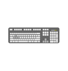 grey keyboard device vector image