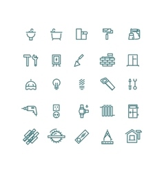 Home repair outline icons vector image
