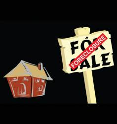 house foreclosure vector image