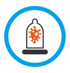 Infection Protection Rounded Icon vector