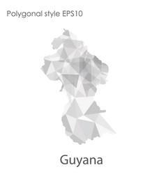 isolated icon guyana map polygonal geometric vector image