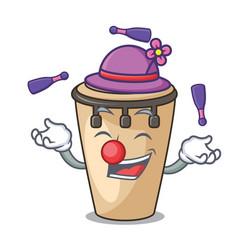 Juggling conga mascot cartoon style vector