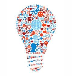 Lamp symbol in social media network icons vector