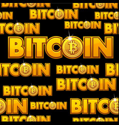 logo bitcoin seamless pattern vector image