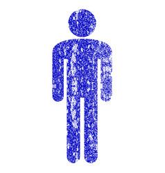 Man grunge textured icon vector