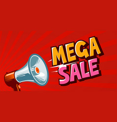 mega sale closeout promo discounts banner vector image