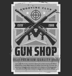 Military gun shop shooting club ammunition vector