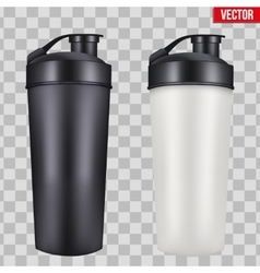 Mock-up Plastic Sport Nutrition Drink Bottle vector image