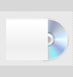 modern cd-rom with cover mockup object isolated vector image