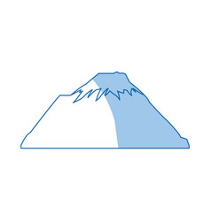 mountain snow peak natural shadow image vector image