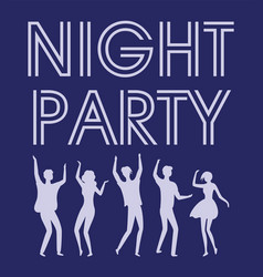 night party celebration and active lifestyle vector image