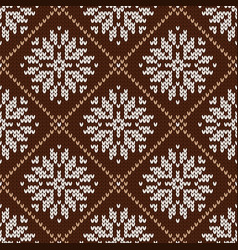 Norwegian winter pattern with snowflakes vector