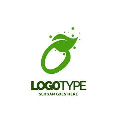 O logo with leaf element nature leaf logo designs vector