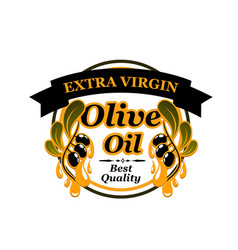 Olive oil extra virgin icon vector