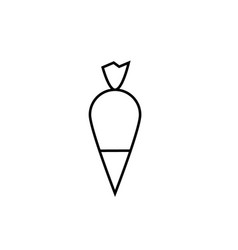 Pastry bag icon vector