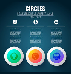 pictogram app circles background vector image