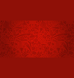 Red soccer championship trendy pattern ornament vector