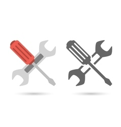 Repair icon Wrench and screwdriver vector image vector image