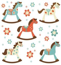 Rocking horses vector
