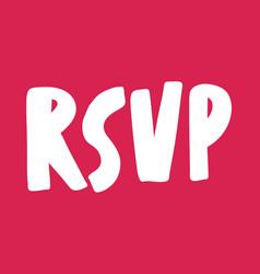 Rsvp valentines day sticker for social media vector