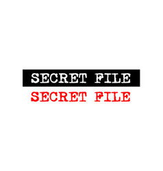 Secret file rubber stamp badge with typewriter vector