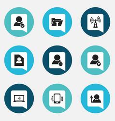 Set of 9 editable internet icons includes symbols vector