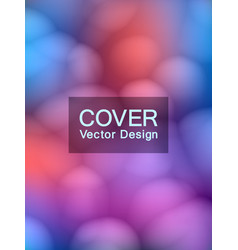 Soft bubbles abstract cover template vector