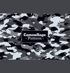 Soldier military camouflage pattern in white and vector