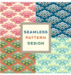 Stylized oriental ornament seamless pattern vector image