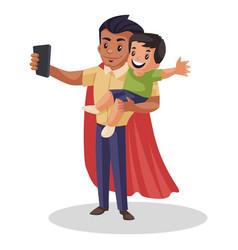 super dad cartoon vector image