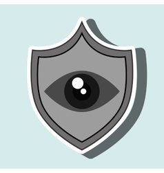 symbol eye alert data vector image
