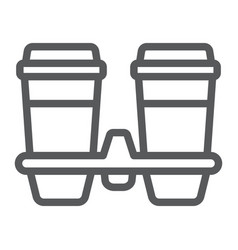 Take away coffee cups line icon coffee vector