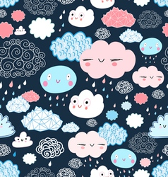 Texture of the fun of clouds vector