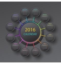 The 2016 calendar vector image