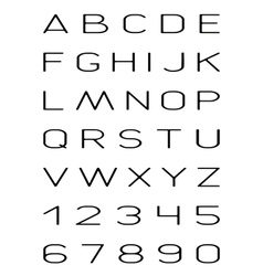 Thin font vector