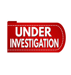 Under investigation banner design vector