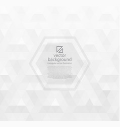 white abstract background with triangles vector image