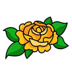 yellow rose beautiful romantic summer garden vector image