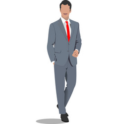 Young handsome man businessman vector
