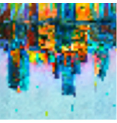 Blurred colorful pixel background vector