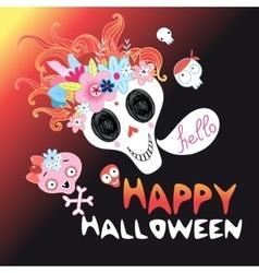 Funny Halloween skull vector image vector image