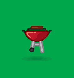 icon of meat is fried on barbecue for vector image vector image